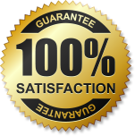 100% Satisfaction logo for Quick release bail bonds agency