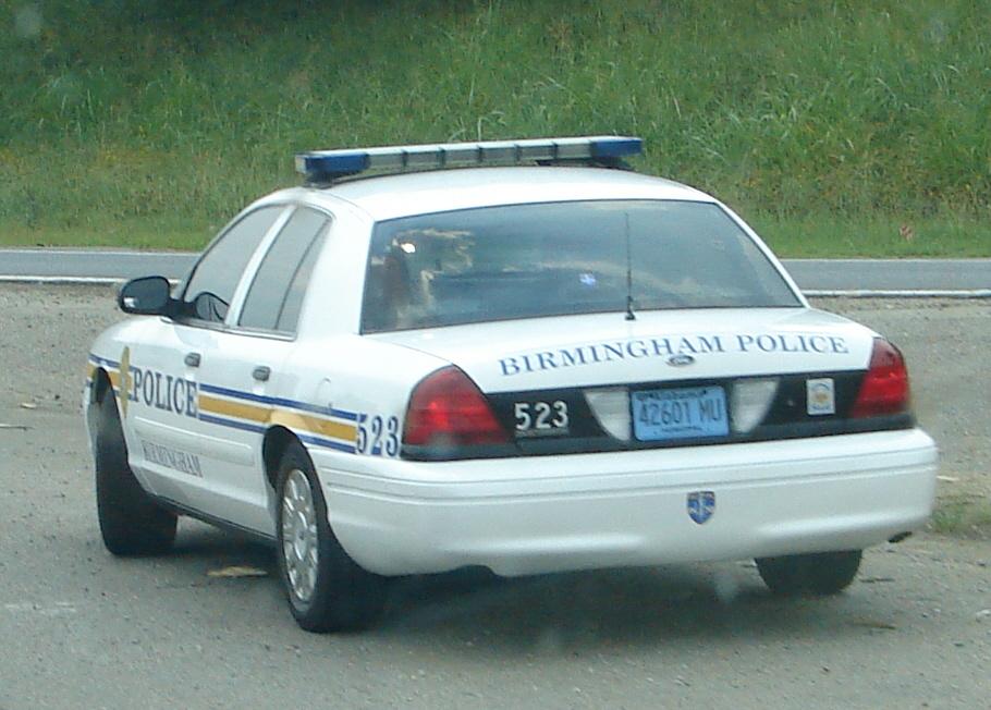 Birmingham al police car